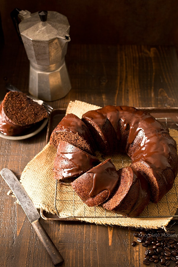 Whether you need a cake to impress at a dinner party or to serve as a snack at an office party, this moist and tender Chocolate Mocha Pumpkin Bundt Cake with a chocolate ganache glaze is perfect for every occasion.
