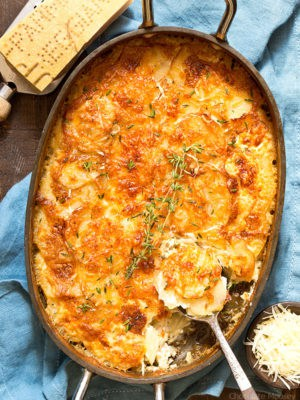 Garlic Parmesan Au Gratin Potatoes