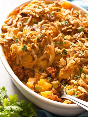 Cheesy Chorizo Potatoes
