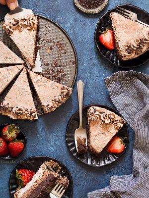 Brownie Bottom Chocolate Mousse Cake