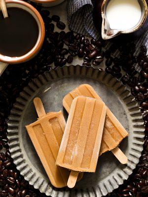 3 ingredient small batch Iced Coffee Popsicles for when it's hot outside