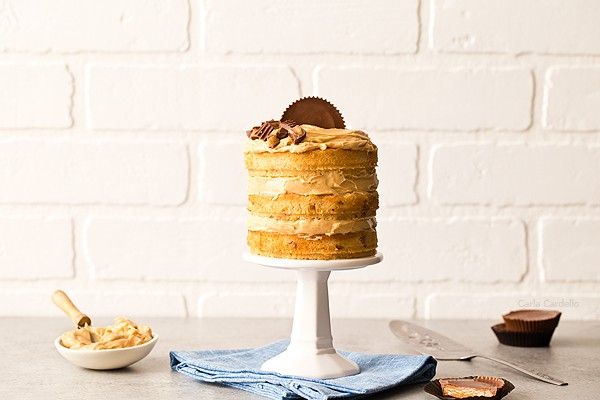 If you love peanut butter, this is the birthday cake for you! Mini Peanut Butter Layer Cake is a 3 layer peanut butter cake with homemade peanut butter frosting.
