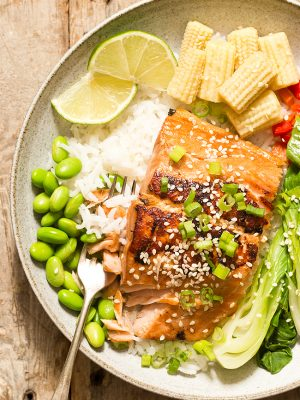 Asian Salmon with a ginger garlic marinade