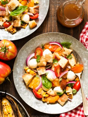 Grilled Corn Panzanella Salad