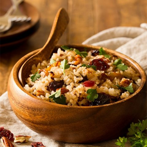 Cranberry Rice Pilaf For Two