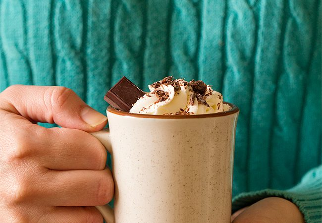When it's freezing outside, stay inside and cozy up with a mug of Thick Hot Chocolate For One made with melting chocolate and not cocoa powder. Recipe can easily be doubled to serve two people.