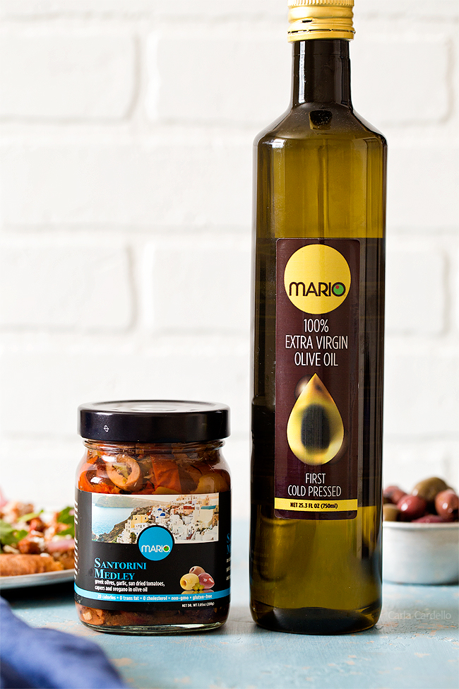 Olive and olive oil for Greek Pita Pizza