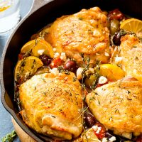 Mediterranean Roasted Chicken Thighs (Dinner For Two)
