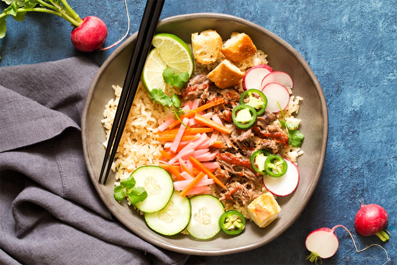 Dinner For Two Slow Cooker Banh Mi Rice Bowls