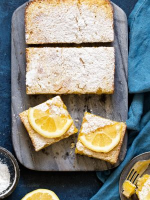 Small Batch Lemon Bars In A Loaf Pan