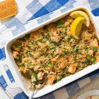 Lemon Parmesan Chicken Rice Casserole