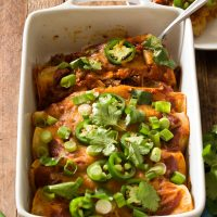 Slow Cooker Beef Enchiladas For Two