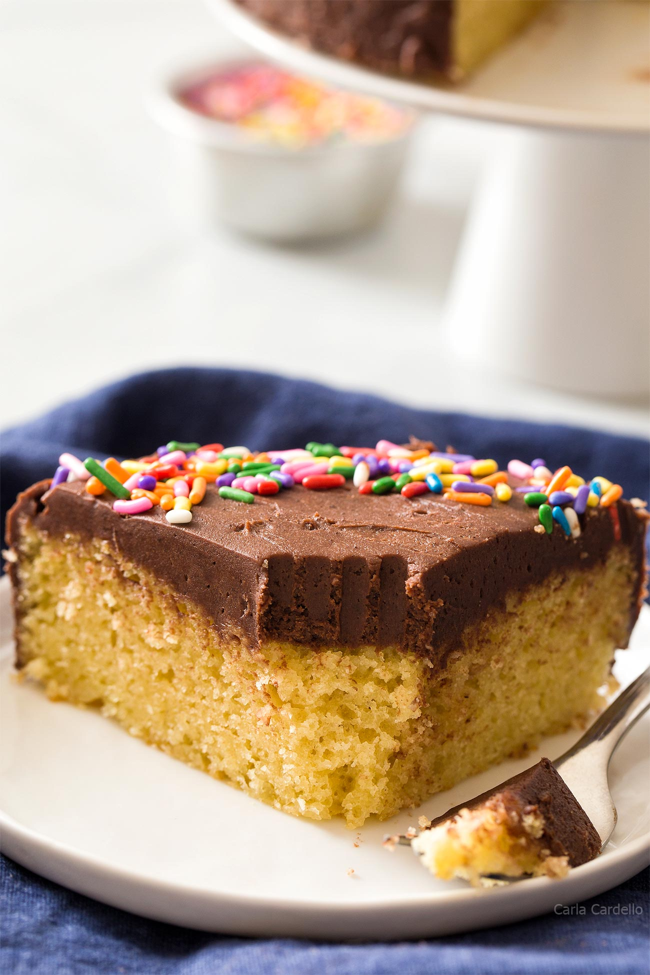 Take a bite out of Small 6 Inch Yellow Cake For Two