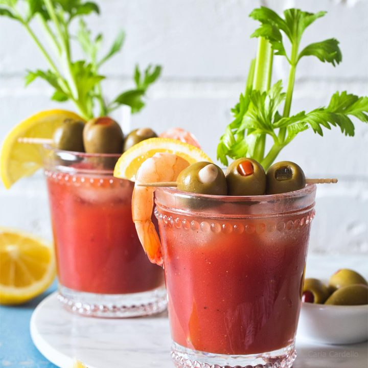 Small Batch Bloody Mary recipe made with tomato juice isn't like any other you've had, thanks to one secret ingredient.