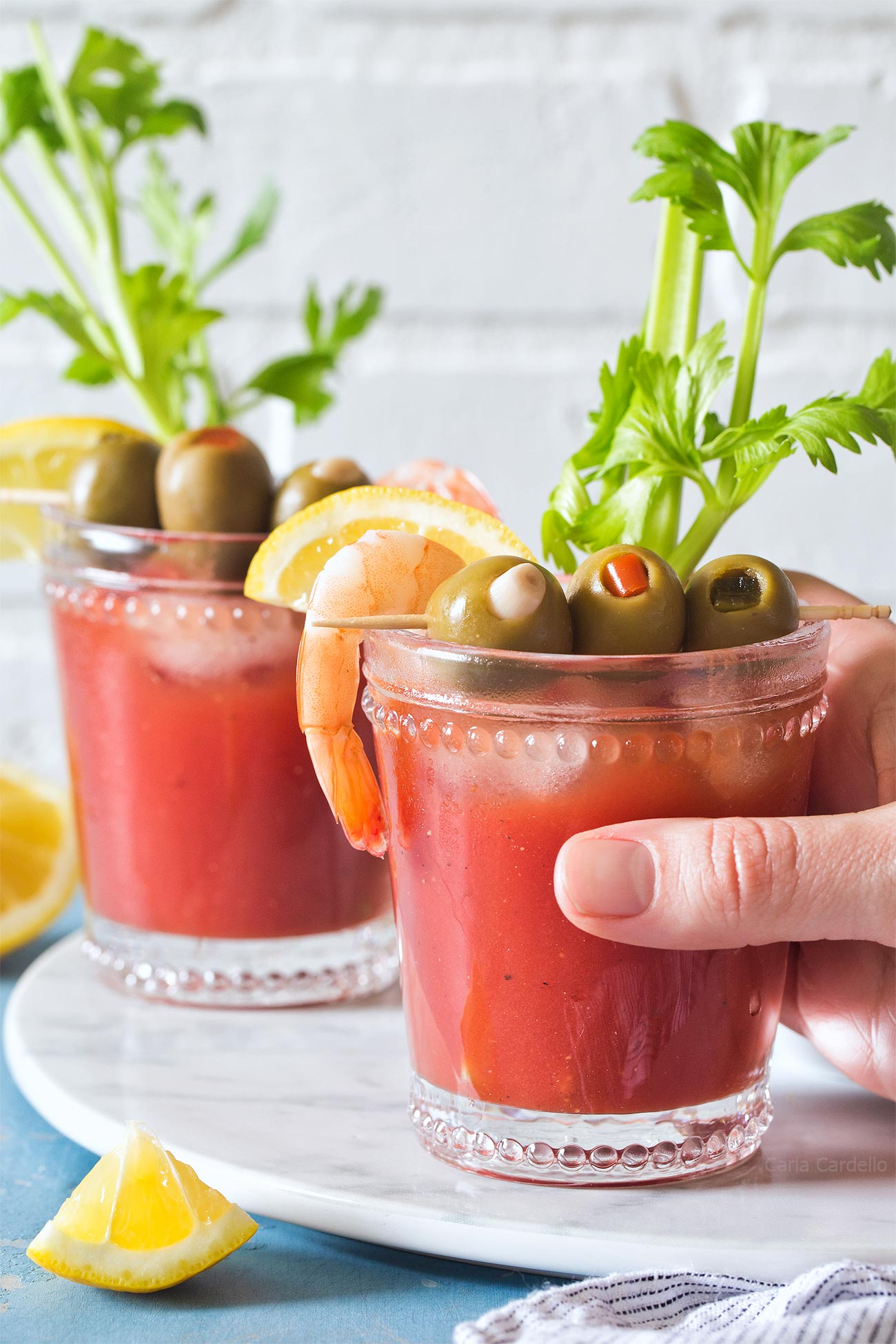 Small Batch Bloody Mary Recipe made from scratch with tomato juice