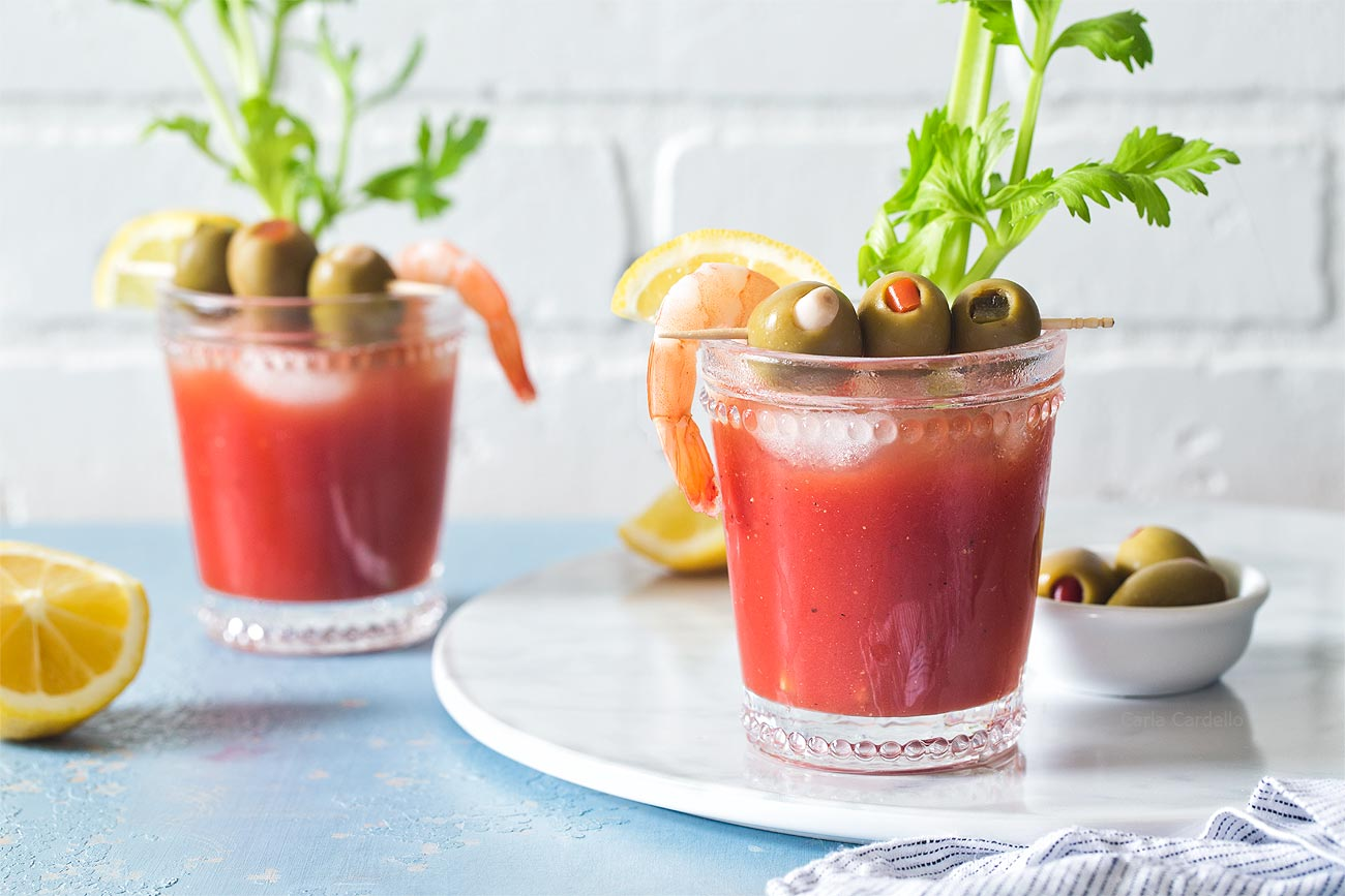 Small Batch Bloody Mary Recipe made without bloody mary mix