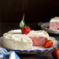 Small 6 Inch Strawberry Cake
