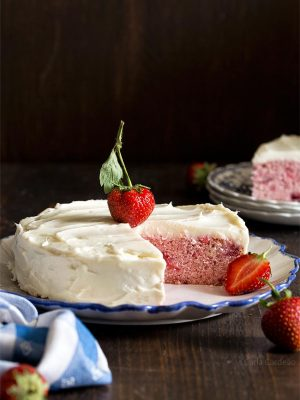 Small 6 Inch Strawberry Cake For Two