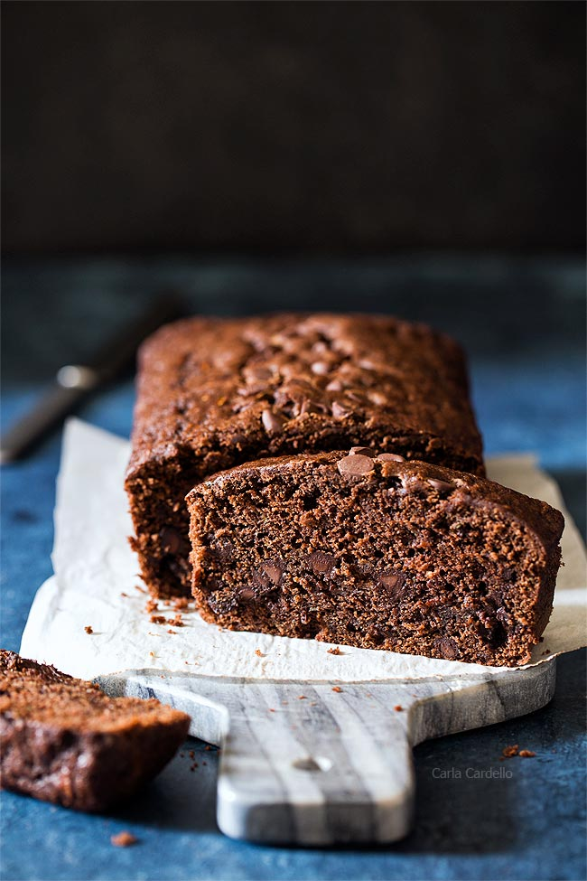 one 9x5 loaf of Chocolate Zucchini Bread