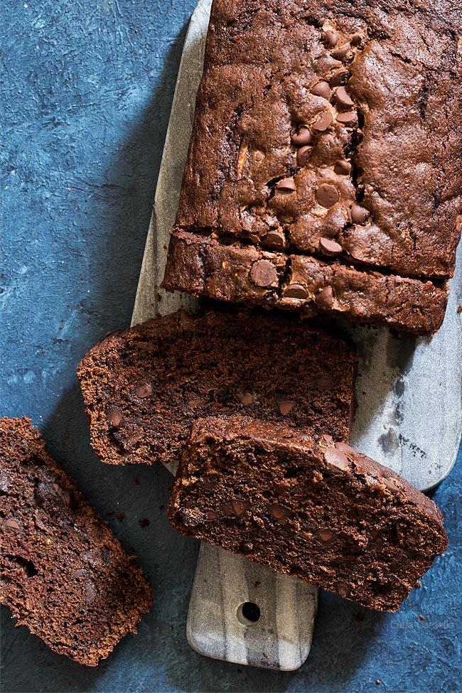 Deliciously moist Chocolate Zucchini Bread