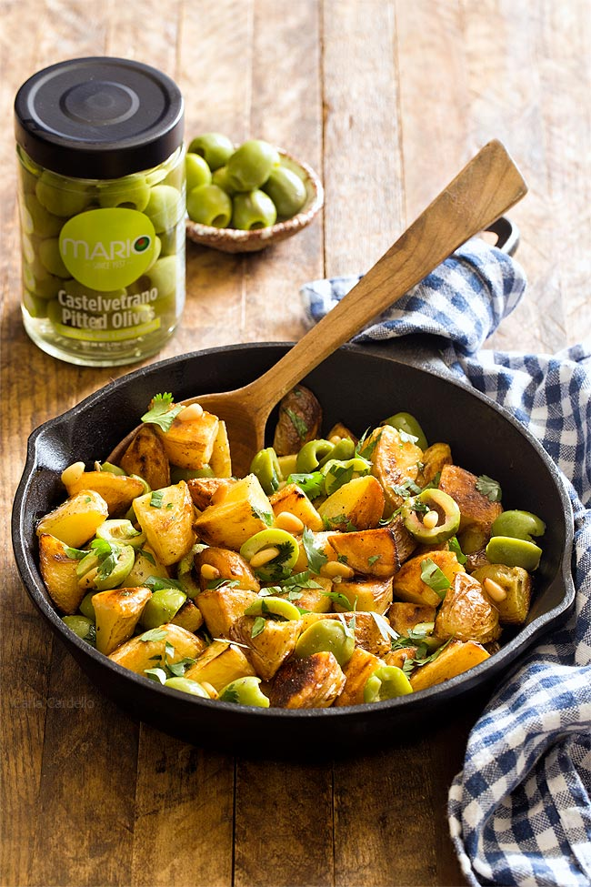 Small Batch Pan Fried Potatoes With Castelvetrano Olives