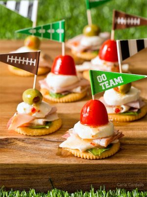 Antipasto Football Cracker Stacks