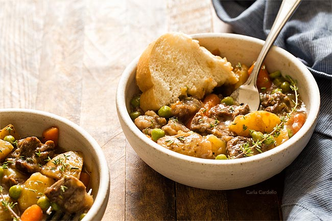 Instant Pot Beef Stew - Dinner For Two