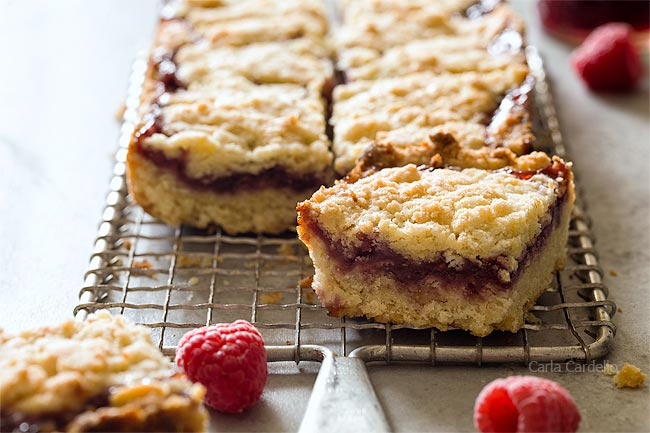 Small Batch Raspberry Crumb Bars
