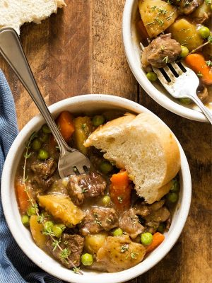 Stovetop Beef Stew For Two recipe