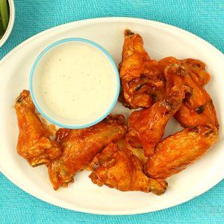Small Batch Baked Buffalo Chicken Wings