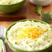 Broccoli and Cheese Mashed Potatoes