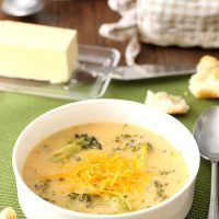 Broccoli Cheese Soup (Dinner For Two)