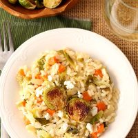 Brussels Sprouts and Goat Cheese Risotto