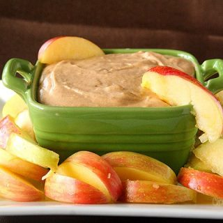 Caramel Apple Butter Cheesecake Dip