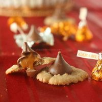 Caramel Kiss Cinnamon Spritz Cookies