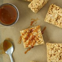 Caramel Rice Crispy Treats