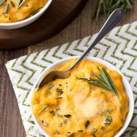 Cheddar Pumpkin Mashed Potatoes