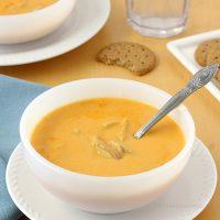 Cheesy Buffalo Chicken Soup