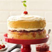 Small 6 Inch Cherry Vanilla Layer Cake
