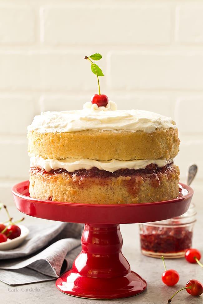 6 Inch Cherry Vanilla Layer Cake