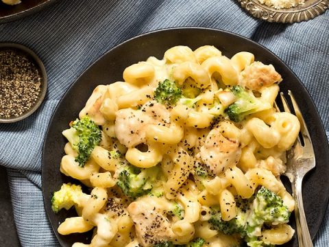 Chicken Broccoli Alfredo Mac And Cheese Homemade In The Kitchen
