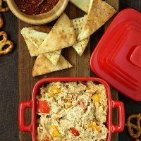 Chicken Fajita Dip and Quesadillas