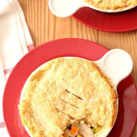 Chicken Pot Pie For Two In Ramekins