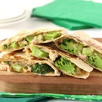 Chicken and Broccoli Alfredo Quesadillas