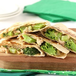 Chicken and Broccoli Alfredo Quesadillas
