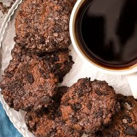 Small Batch Eggless Chocolate Cheesecake Cookies