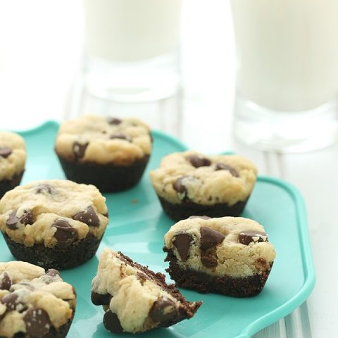 Chocolate Chip Cookie Brownie Bites