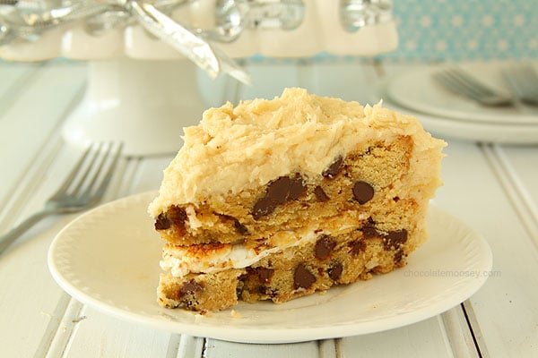 Cake Filling Recipes Without Icing Sugar: Chocolate Chip Cookie Cake With Toasted Marshmallow