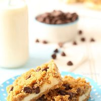Small Batch Chocolate Chip Cookie Dough Cheesecake Bars