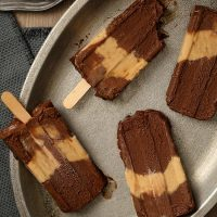 Chocolate Peanut Butter Fudgesicles